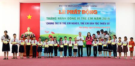 Hậu Giang tổ chức Lễ phát động Tháng hành động vì trẻ em năm 2019